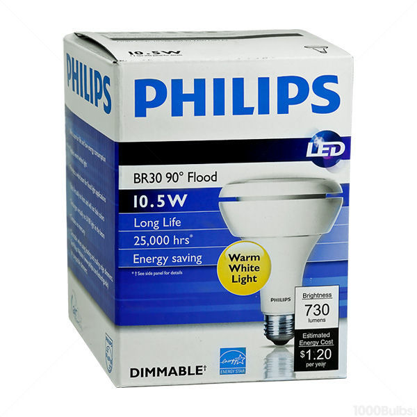 Philips 293878 - Dimmable LED - 10.5 Watt - BR30 Image
