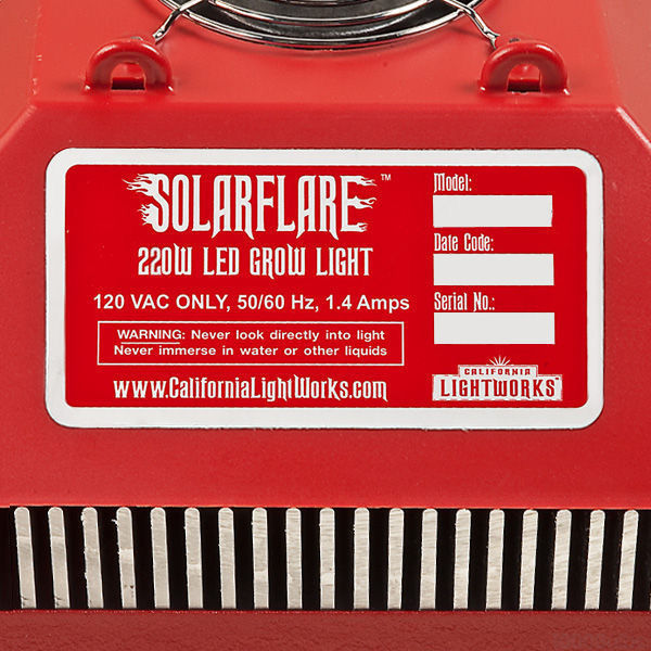 SolarFlare FullCycle 220 LED Grow Light Image