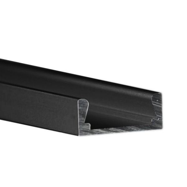 6.56 ft. Black Anodized Aluminum Micro-ALU Channel Image