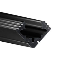 6.56 ft. Black Anodized Aluminum 45-ALU Channel - For LED Tape Light and Strip Light - Klus B4023K7L