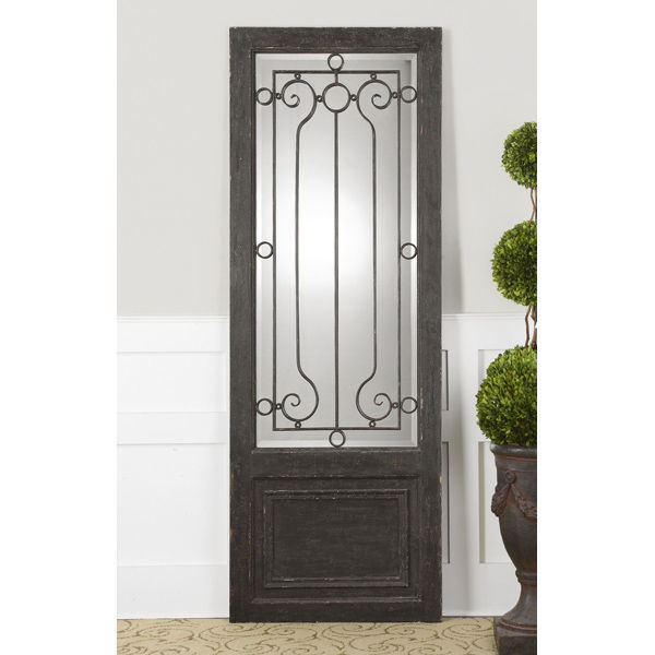 Uttermost 10509 - Wood and Iron Door Standing Mirror Image