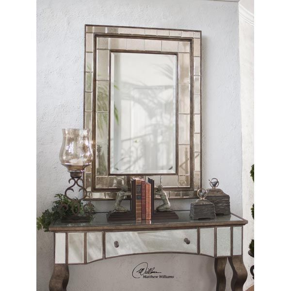 Uttermost 08099 - Antiqued Beveled Wall Mirror Image