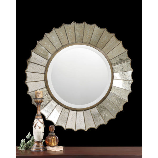 Uttermost 08028 B - Round Etched Glass Wall Mirror Image
