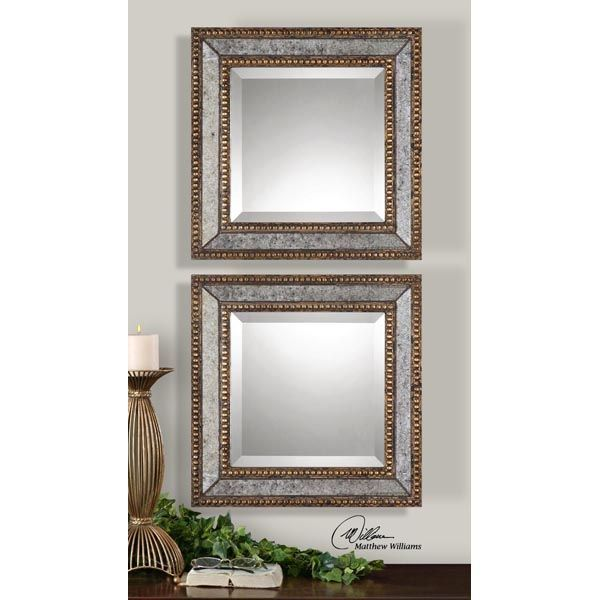 Uttermost 13790 - Square Beveled Wall Mirrors Image