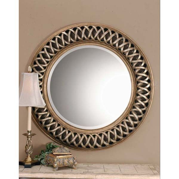 Uttermost 14028 B - Round Open Fret Wall Mirror Image