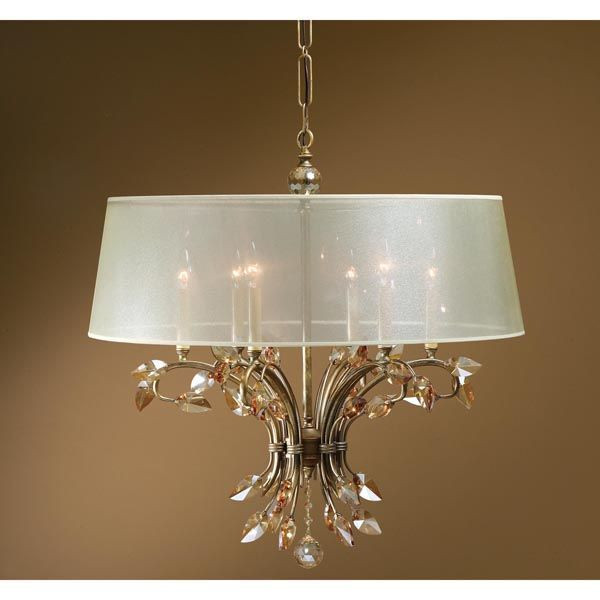 Uttermost 21246 - Crystal Leaf Chandelier Image
