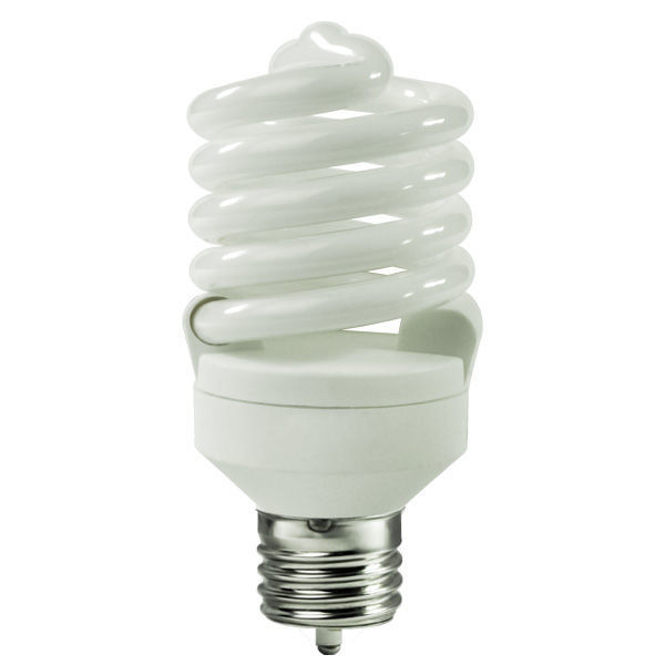 T2 Spiral CFL - 20 Watt - 75W Equal - 4100K Cool White Image