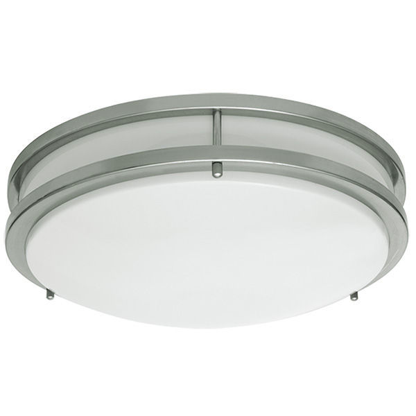17 in. Dia. LED Flush Mount Ceiling Fixture - Cool White Image
