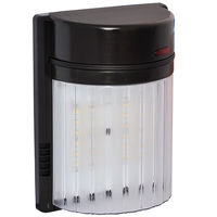 1500 Lumens - LED Wall Pack - 18 Watt - 4000 Kelvin - 50 Watt Metal Halide Equal - Integrated Photocell - 120 Volt - Amax Lighting LED-SL18BZ