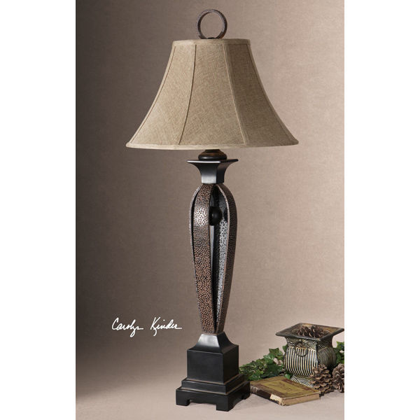 Uttermost 26257 - Hammered Strap Table Lamp Image
