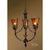 Uttermost 21226 - Amber Glass Chandelier