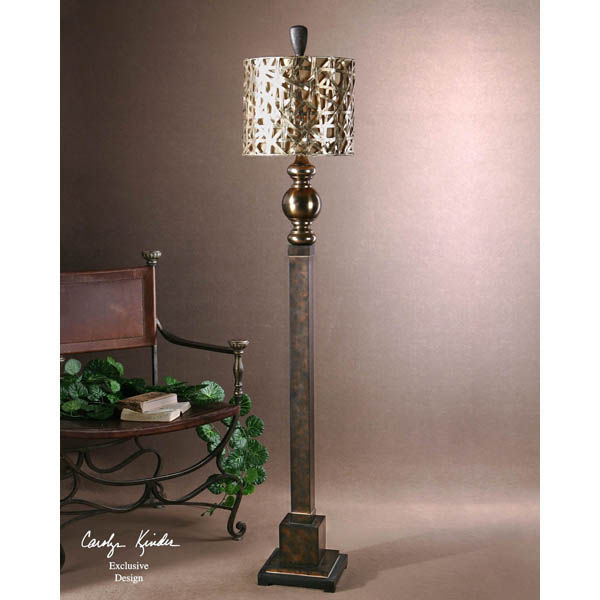 Uttermost 28062-1 - Woven Metal Floor Lamp Image