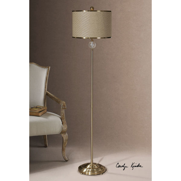 Uttermost 28881-1 - Metal and Fluted Glass Floor Lamp Image