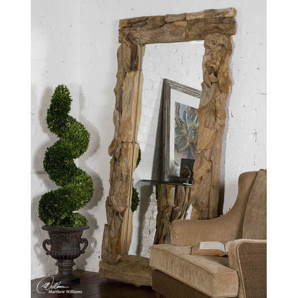 Uttermost 05027 - Teak Wood Wall Mirror Image