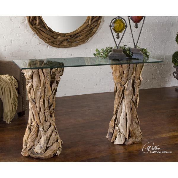 Uttermost 25582 - Teak Wood Console Table Image