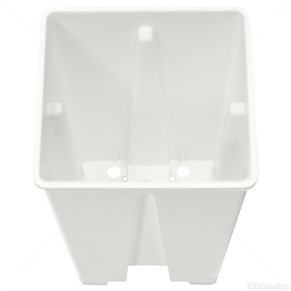 Plastic Planter - 6 in. Square x 6 in. Tall Container Image