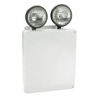 Heavy Duty Emergency Light - Wet Location - Tungsten Lamp Heads - 90 Min. Operation - 120/277V - Gray - Exitronix WNX-6-36-2