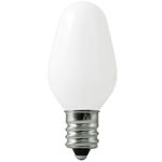7 Watt - C7 - White - Candelabra Base Image