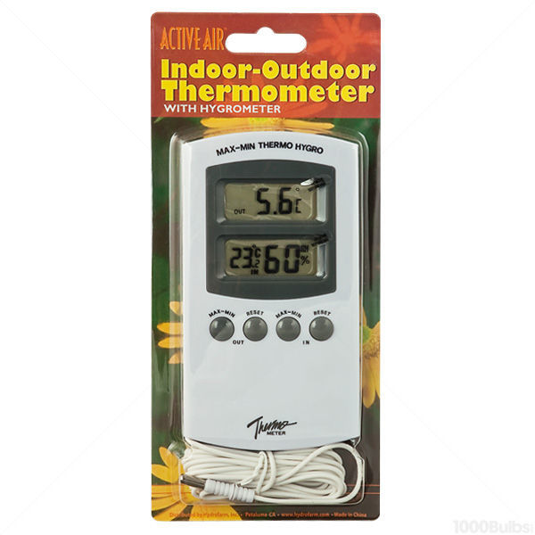 Indoor-Outdoor Thermometer with Hygrometer Image