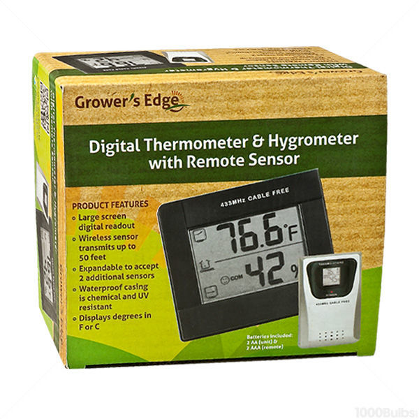EcoPlus 716555 - Digital Thermometer/Hygrometer - With Remote Sensor Image