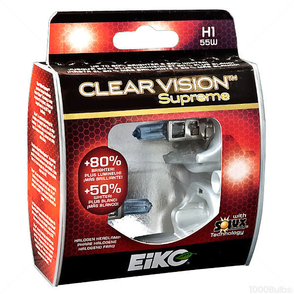 (2 Pack) - H1 Headlight - ClearVision Supreme - 55 Watt - 4100K - T3.5 Image