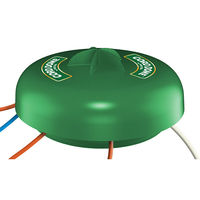 Twist and Seal Cord Dome - 14 in. Dia. Power Cord and Power Strip Protector - Weather Resistant - Protection for Multiple Outlet Connections - Green