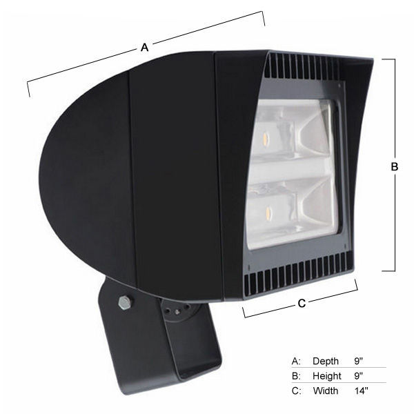 RAB FXLED150T/480 - 150 Watt - LED - High Output Flood Light Fixture - Trunnion Mount Image