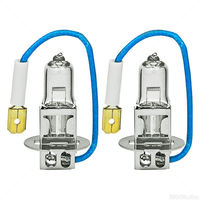 (2 Pack) - H3 Headlight - Power Vision Pro - 55 Watt - 3100K - T3.5 - Halogen - 12 Volt - Eiko H355PVP2