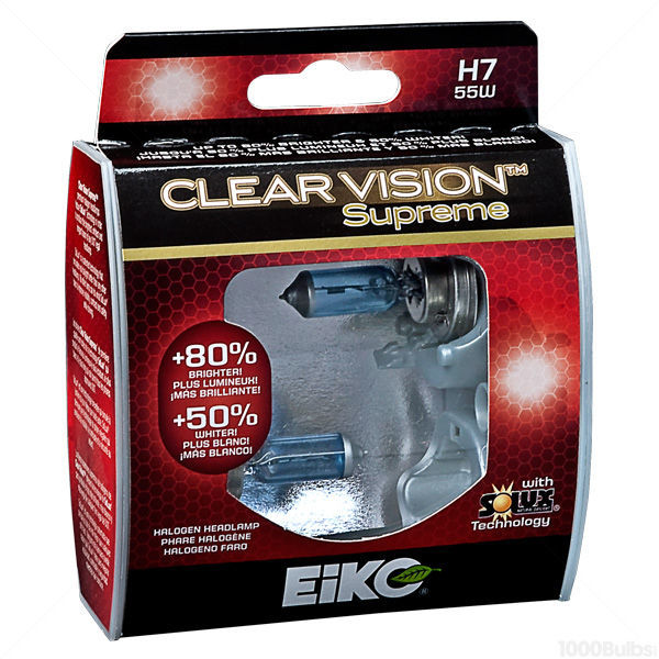 (2 Pack) - H7 Headlight - ClearVision Supreme - 55 Watt - 4100K - T3.5 Image
