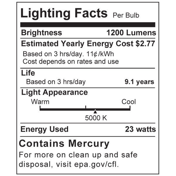 PAR38 CFL - 23 Watt - 100W Equal - 5000K Full Spectrum Image