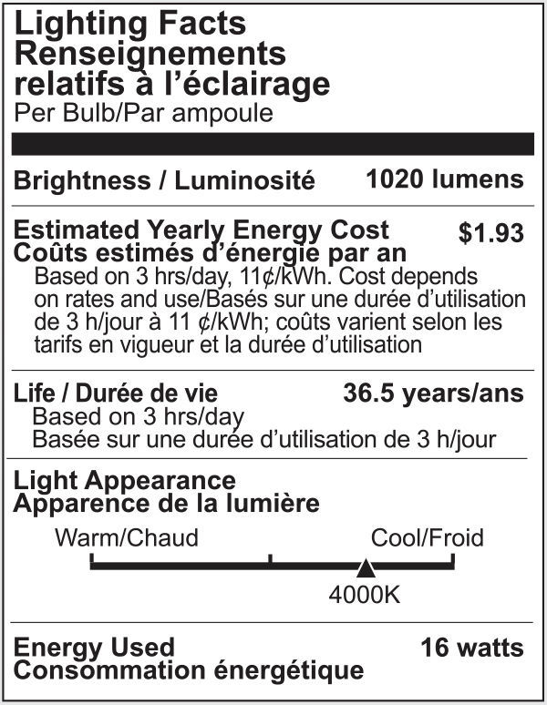 Lighting Science LS3890WENWFL120 - Dimmable LED - 16 Watt - PAR38 Image