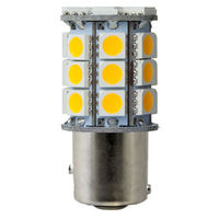 1157 - 3W Double Contact BAY15d - LED - 350 Lumens - 20 Watt Halogen Equal - 3000 Kelvin - Halogen White - 12 Volt DC Only