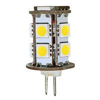 2 Watt - G4 Base LED - 5000 Kelvin - Stark White Color - Replaces 10 Watt Halogen - 12 Volt DC Only