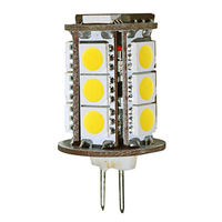 20W Halogen Equal - Bi-Pin Bulb - 360 Degree Beam Angle - 12 Volt DC Only - 50,000 Life Hours - PLT G4-18SMD5050-30K