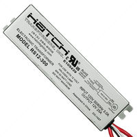 12V Electronic Low Voltage Transformer - Min/Max Wattage 50-300W - Input Voltage 120V - For Use with Halogen Lamps - Side Leads - Hatch RS12-300