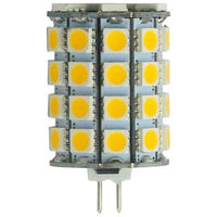 6 Watt - G4 Base LED - 5000 Kelvin - Stark White Color - Replaces 50 Watt Halogen - 12 Volt DC Only