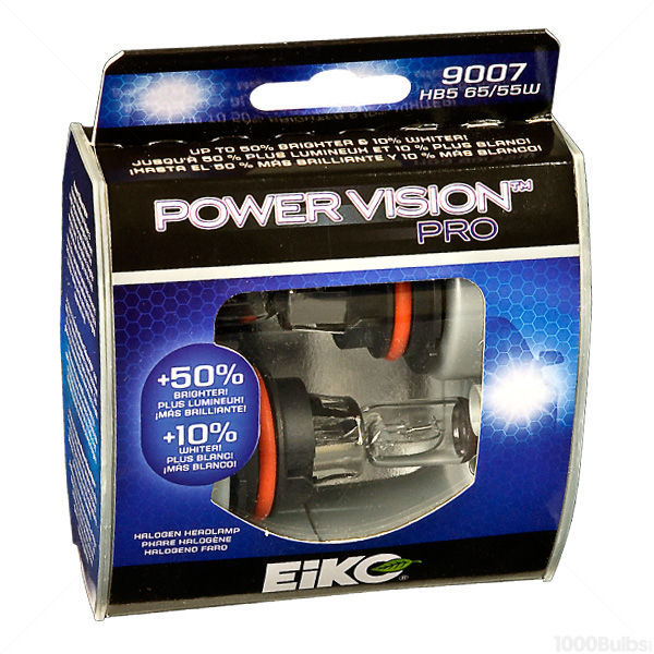(2 Pack) - 9007 Headlight - Power Vision Pro - 65/55 Watt - 3100K - T4.75 Image