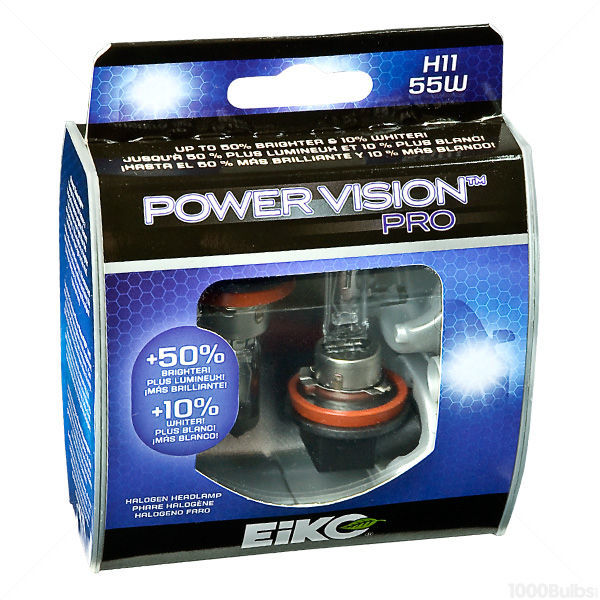 (2 Pack) - H1155 Headlight - Power Vision Pro - 55 Watt - 3100K - T3.25 Image