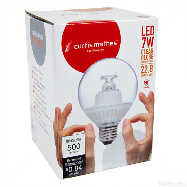 LED - 7 Watt - G25 Clear Globe - 3.1 in. Diameter Image