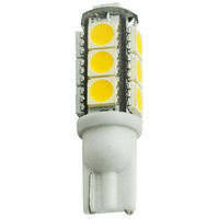 194 Indicator Bulb - 2 Watt - LED - Miniature Wedge - Daylight White - 10 Watt Equal - 12 Volt DC Only