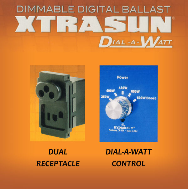 600 Watt - Xtrasun Digital Ballast - Powers Multiple Wattages Image