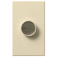 Beige - 600 Watt Max. - Incandescent Dimmer - Single Pole - Push On/Off Rotary Switch - 120 Volt - Lutron Centurion C-600P-BE