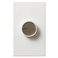 White - 600 Watt Max. - Incandescent Dimmer - Single Pole - On/Off Rotary Switch - 120 Volt - Lutron Centurion C-600-WH