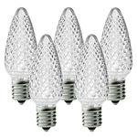 25 Pack - C9 - LED - Cool White - Faceted Finish Image