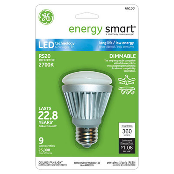 GE 66150 - Dimmable LED - 9 Watt - R20 - 40W Equal Image