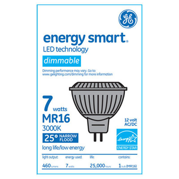 GE 66524 - 7 Watt - LED - MR16 - 50 Watt Equal Image