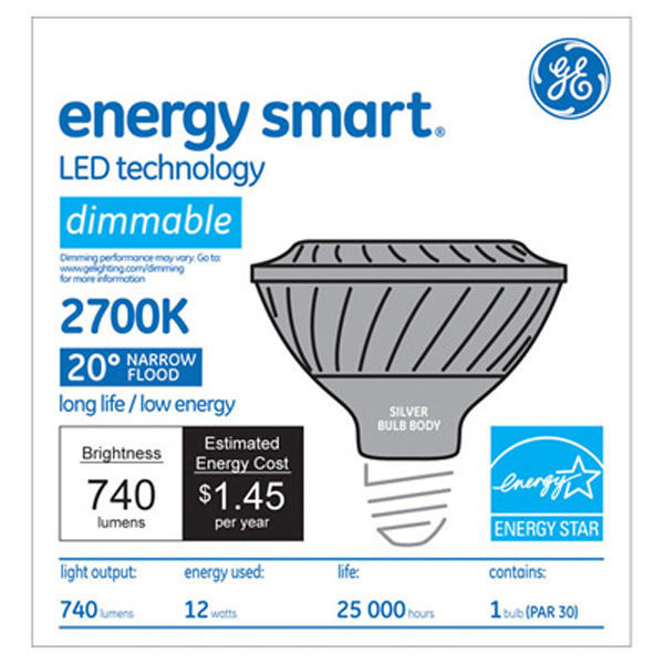 GE 65137 - Dimmable LED - 12 Watt - PAR30 - Short Neck Image