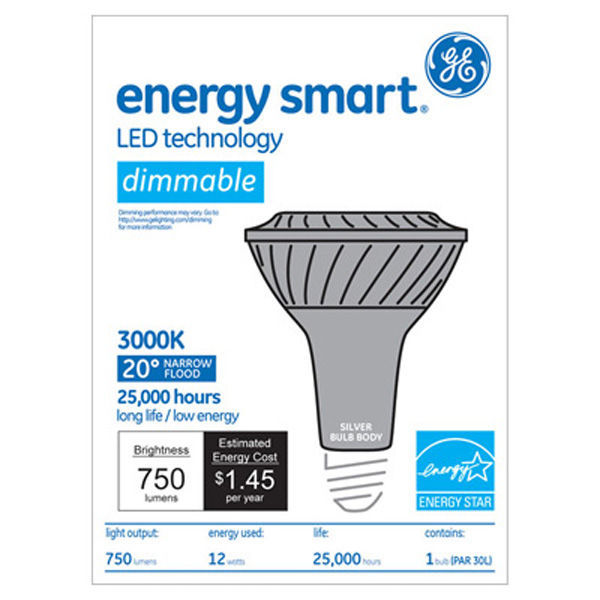 GE 65139 - Dimmable LED - 12 Watt - PAR30 - Long Neck Image