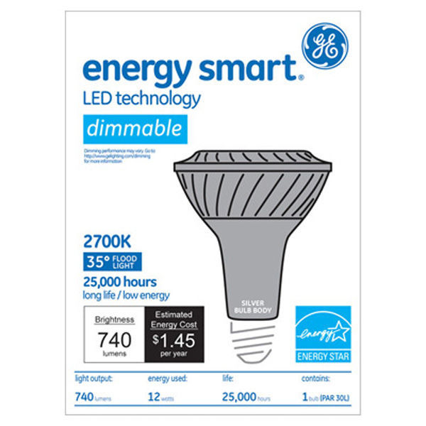 GE 65142 - Dimmable LED - 12 Watt - PAR30 - Long Neck Image