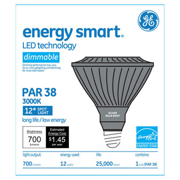 GE 66111 - Dimmable LED - 12 Watt - PAR38 Image